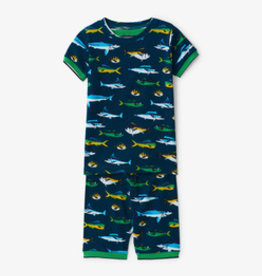 Hatley Game Fish Short PJ Set Blue