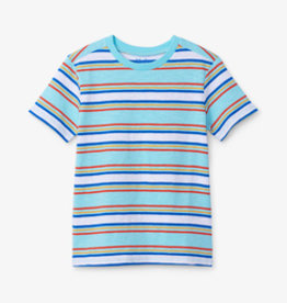 Hatley Tropical Stripe Tee Blue