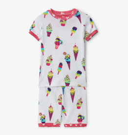 Hatley Ice Cream Cones Short PJ Set White