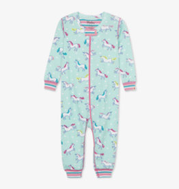 Hatley Prancing Unicorns Coverall Blue