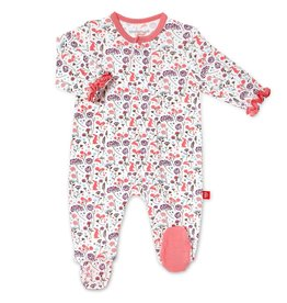 Magnificent Baby Beatrix Floral Modal Magnetic Footie