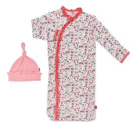 Magnificent Baby Beatrix Floral Modal Magnetic Gown Set, NB/3M