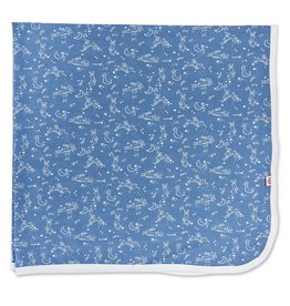 Magnificent Baby Sky Blue Bunny Modal Swaddle Blanket