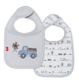 Magnificent Baby Dig In Cotton Magnetic Reversible Bib
