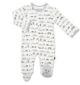 Magnificent Baby Dig In Organic Cotton Magnetic Footie