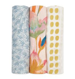 Aden & Anais Marine Gardens 3-Pack Silky Soft Swaddles
