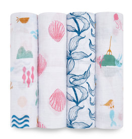 Aden & Anais Salty Kisses 4-Pack Classic Swaddles