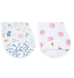 Aden & Anais Salty Kisses 2-Pack Classic Burpy Bibs