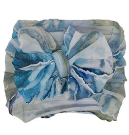 In Awe Couture Ruffle Headband Blue Rose