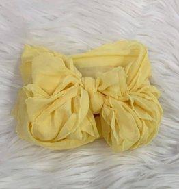 In Awe Couture Ruffle Headband Buttercup