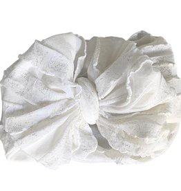 In Awe Couture Ruffle Headband Icicle Shimmer