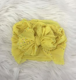 In Awe Couture Ruffle Headband Lemonade Stand Sequin