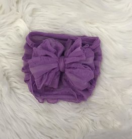In Awe Couture Ruffle Headband Orchid