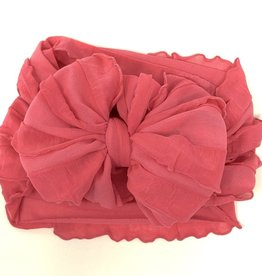 In Awe Couture Ruffle Headband Watermelon Pink