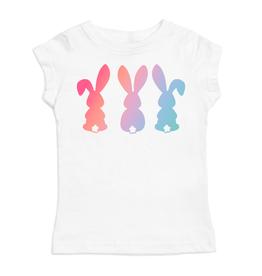 Sweet Wink 3 Bunnies Short Sleeve Shirt White