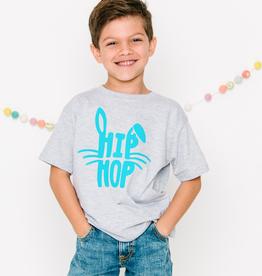 Sweet Wink Hip Hop Short Sleeve Shirt Gray