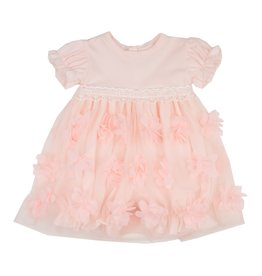 Haute Baby Peach Blossom Bubble Dress