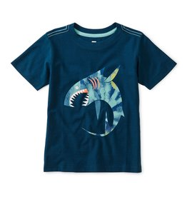 Tea Collection Shark Graphic Tee Ascot Blue