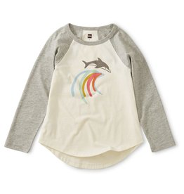 Tea Collection Dolphin Raglan Tee Chalk
