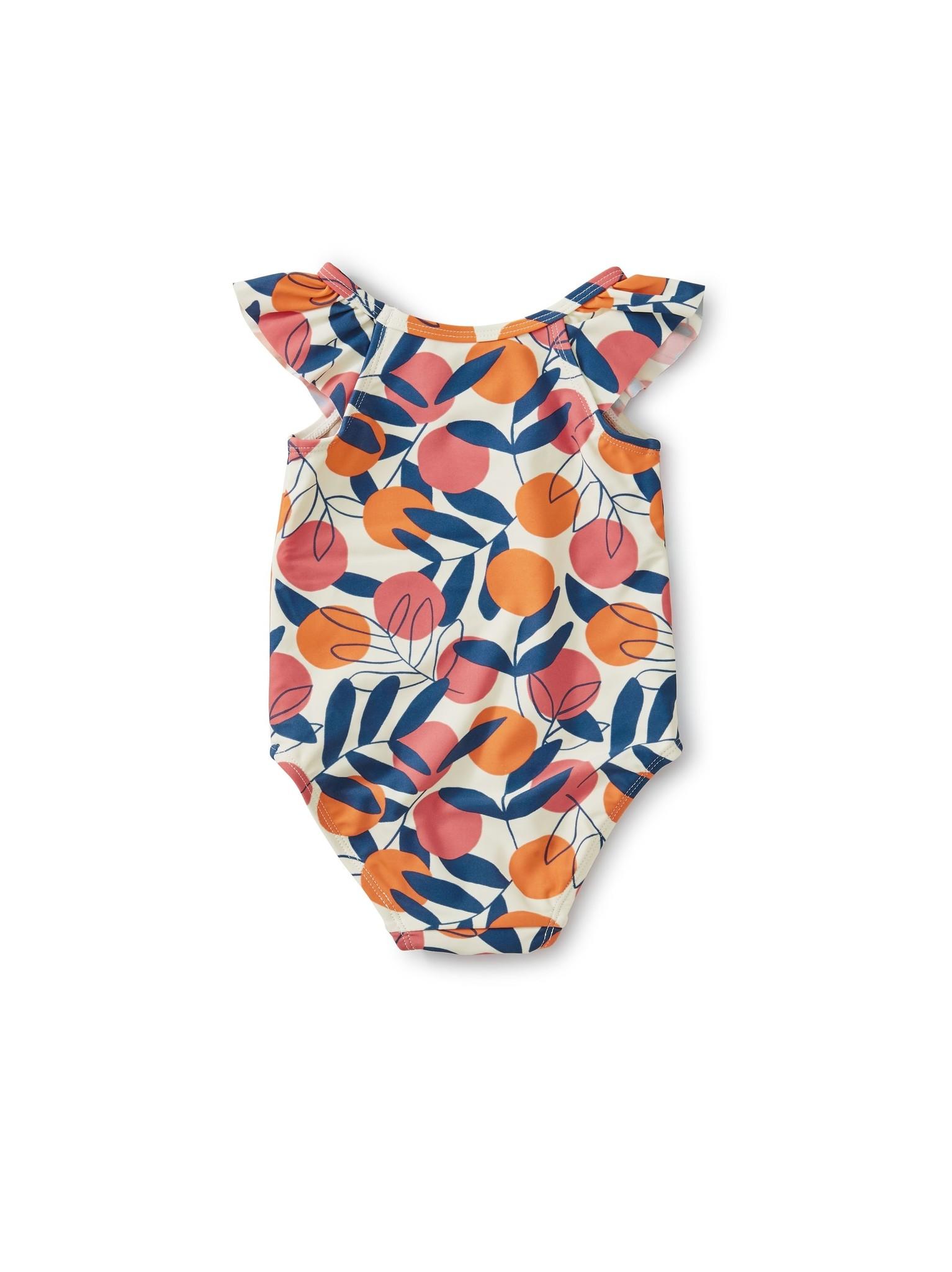 Tea Collection Flutter One-Piece Swimsuit Spring Citrus