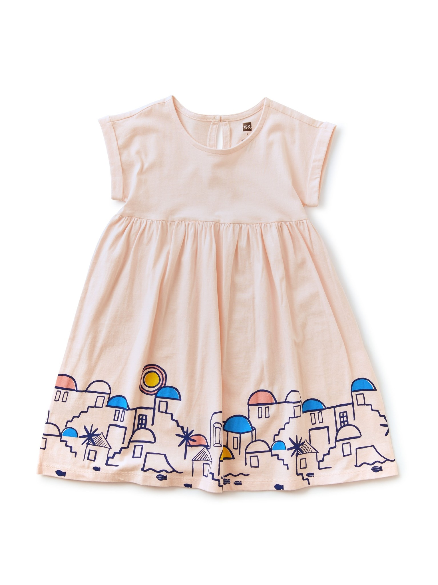 Tea Collection Santorini Graphic Dress Pink