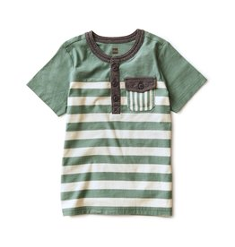 Tea Collection Striped Pocket Henley Sagebrush
