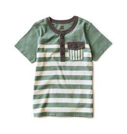 Tea Collection Striped Pocket Henley Sagebrush