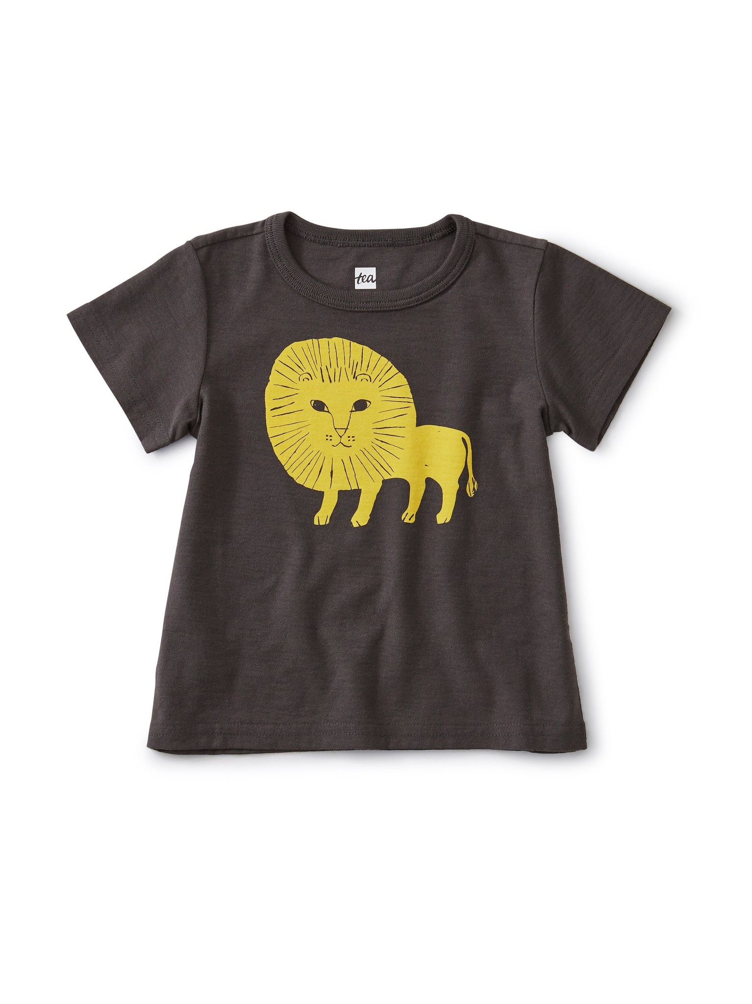 Tea Collection Lion Cub Baby Tee Pepper