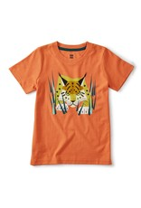 Tea Collection Lynx Graphic Tee Orange Spice