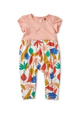 Tea Collection Tulip Sleeve Romper Egyptian Floral