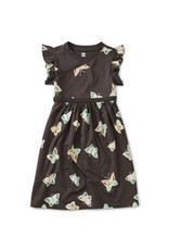 Tea Collection Wrap Neck Dress Butterfly Pepper