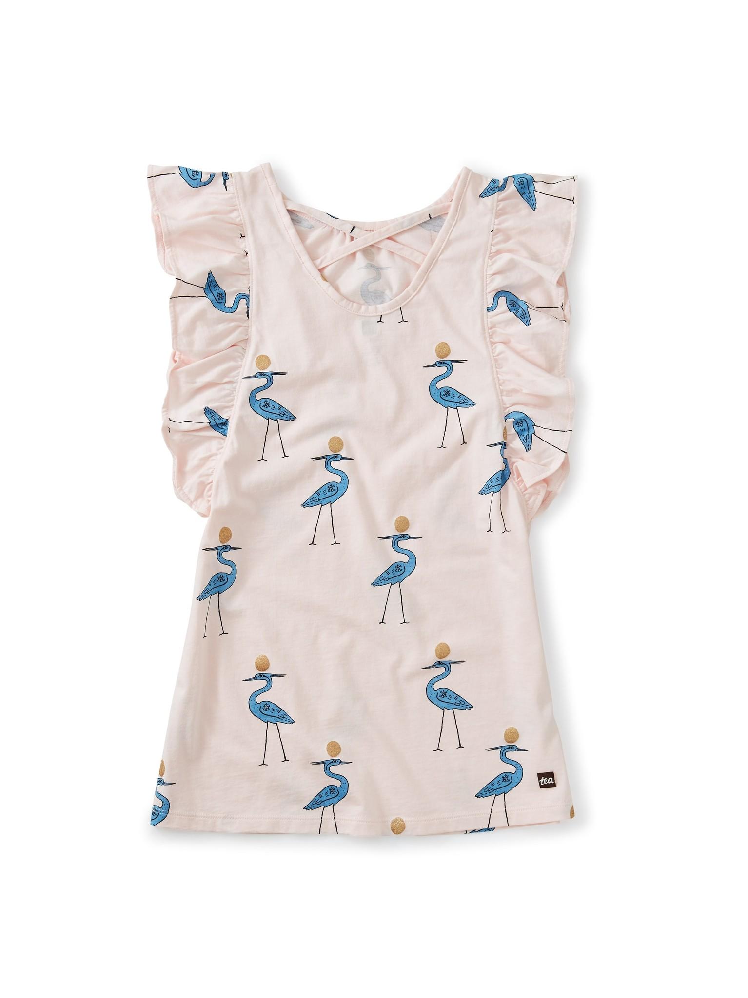 Tea Collection Scoop Back Ruffle Dress Sparkle Ibis