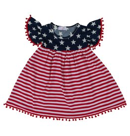 Mila & Rose 4th of July Pom Pom Dress