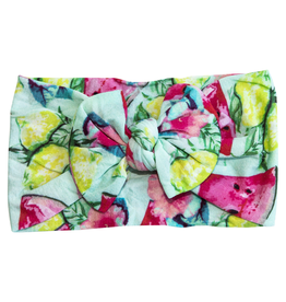 Mila & Rose Tropical Nylon Bow Headwrap