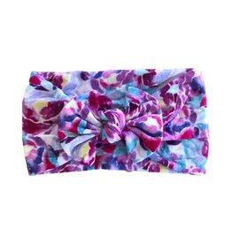 Mila & Rose Purple Nylon Bow Headwrap