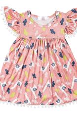 Mila & Rose Desert Llama Pom Pom Dress
