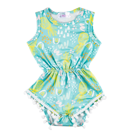 Mila & Rose Painted Pineapple Pom Pom Romper