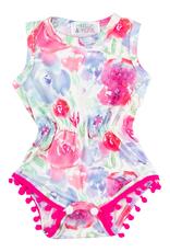 Mila & Rose Watercolor Pom Pom Romper