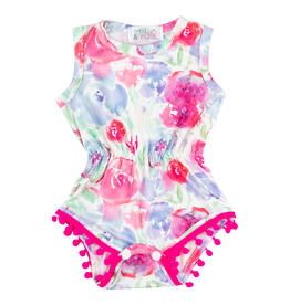 Mila & Rose Watercolor Pom Pom Romper