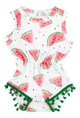 Mila & Rose Watermelon Pom Pom Romper