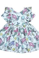 Mila & Rose Mermaid Friends SS Ruffle Twirl Dress