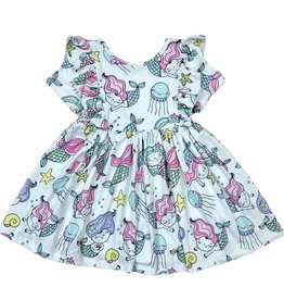 Mila & Rose Mermaid Friends SS Ruffle Twirl Dress