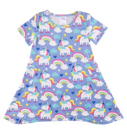 Mila & Rose Rollin' Unicorn Pocket Dress