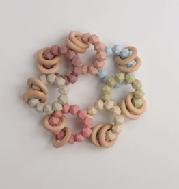 Three Hearts Abby Teething Rattle (Multiple Colors)