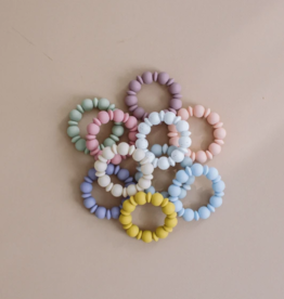 Three Hearts Adelia Teething Ring in Baby Blue