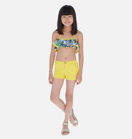 Mayoral Fleece Shorts Yellow