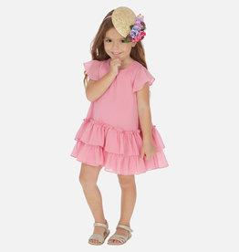 Mayoral Ruffled Dress Hollyhock