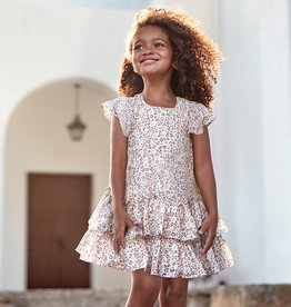 Mayoral Ruffled Dress Beige