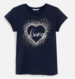 Mayoral SS Heart Shirt Navy