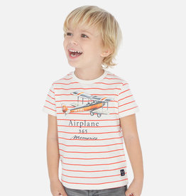 Mayoral Stripes SS T-Shirt Carrot